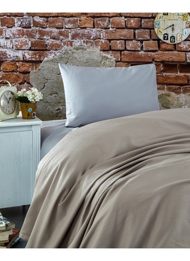 Komfort Home Tek Kişilik Ranforce %100 Pamuk Pike / S. Kahve Kahve